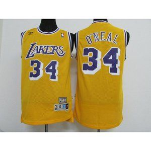 Los Angeles Lakers Shaquille O'Neal Gold Jersey